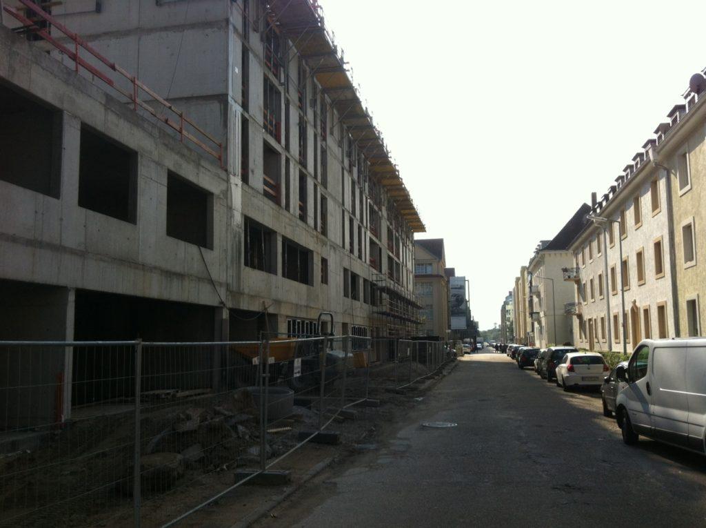 Das Boardinghouse im Bau - Die Lorenzstraße