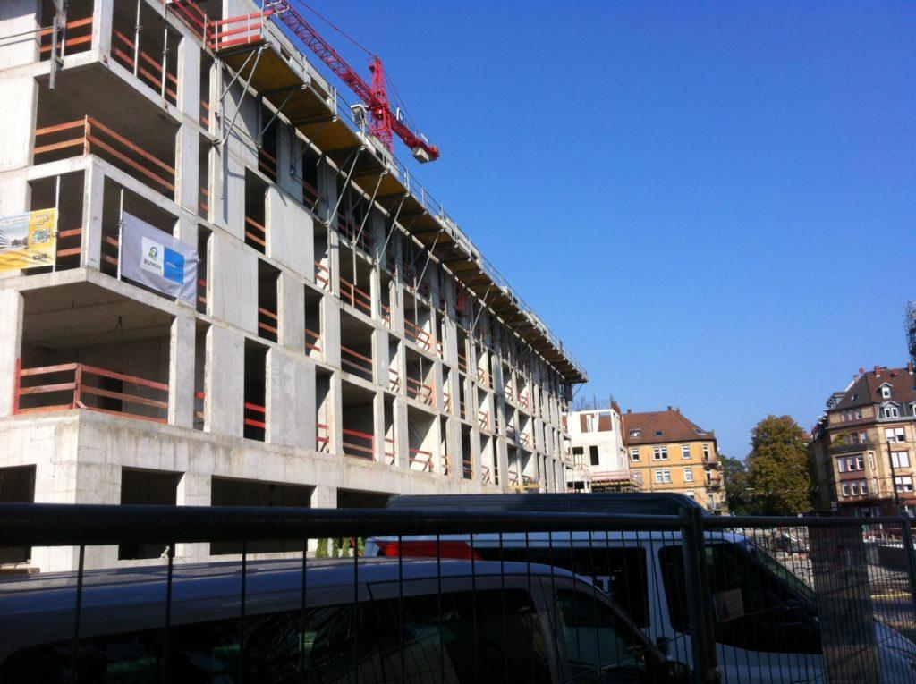 Das Boardinghouse im Bau