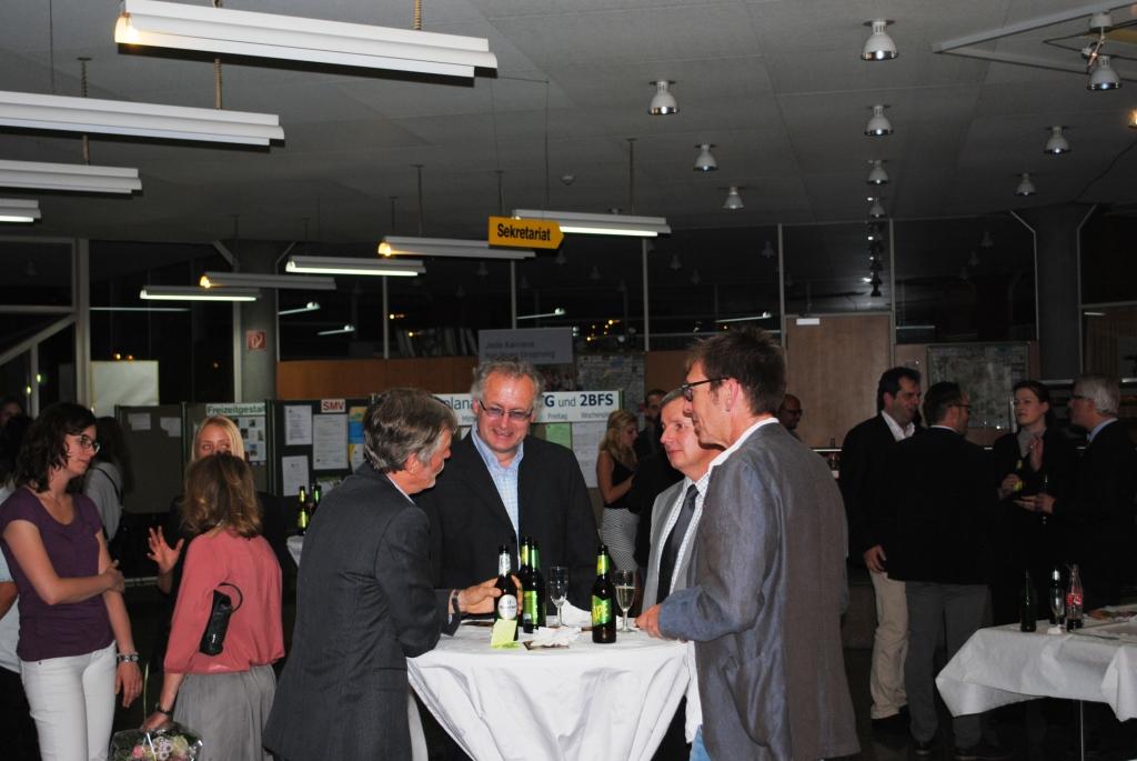 Abschlussfeier Bruchsal 2015 Gespräche