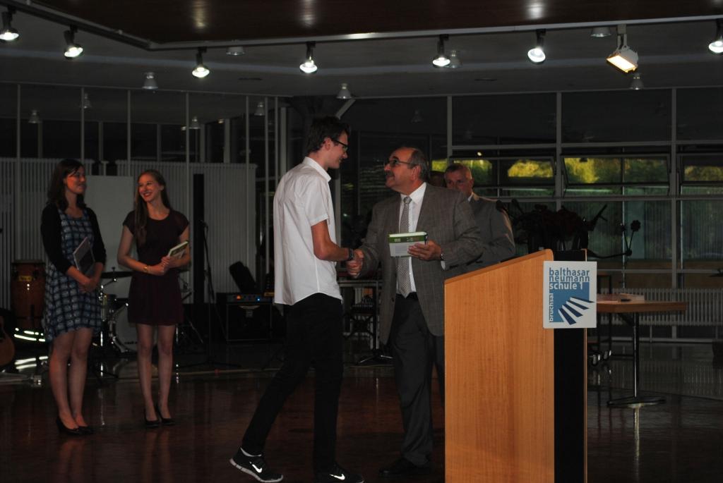 Abschlussfeier Bruchsal 2015 Gratulation