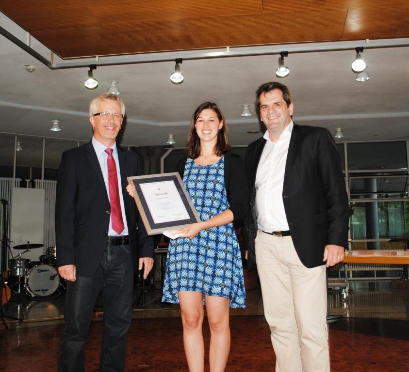 Abschlussfeier Bruchsal 2015 Prüfungsbeste