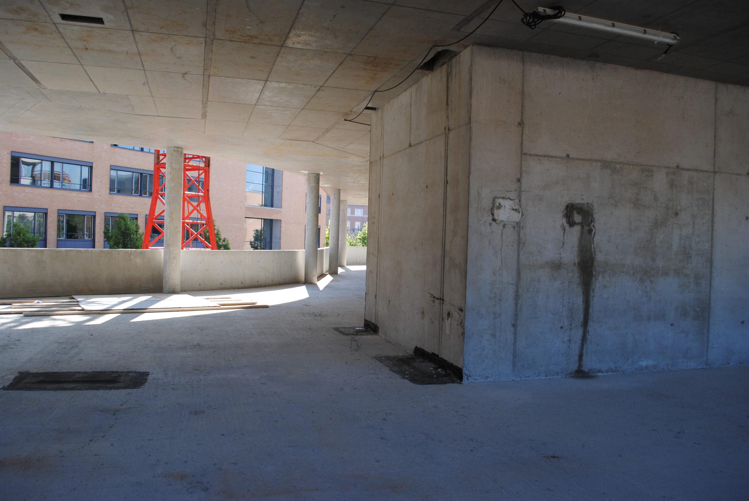 Das Synus-Gebäude im Bau - Detailarbeiten