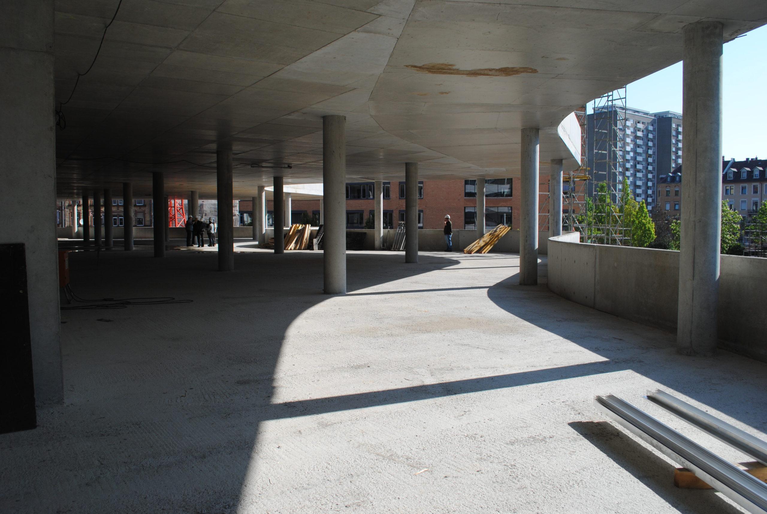 Das Synus-Gebäude im Bau - Die Formgebung