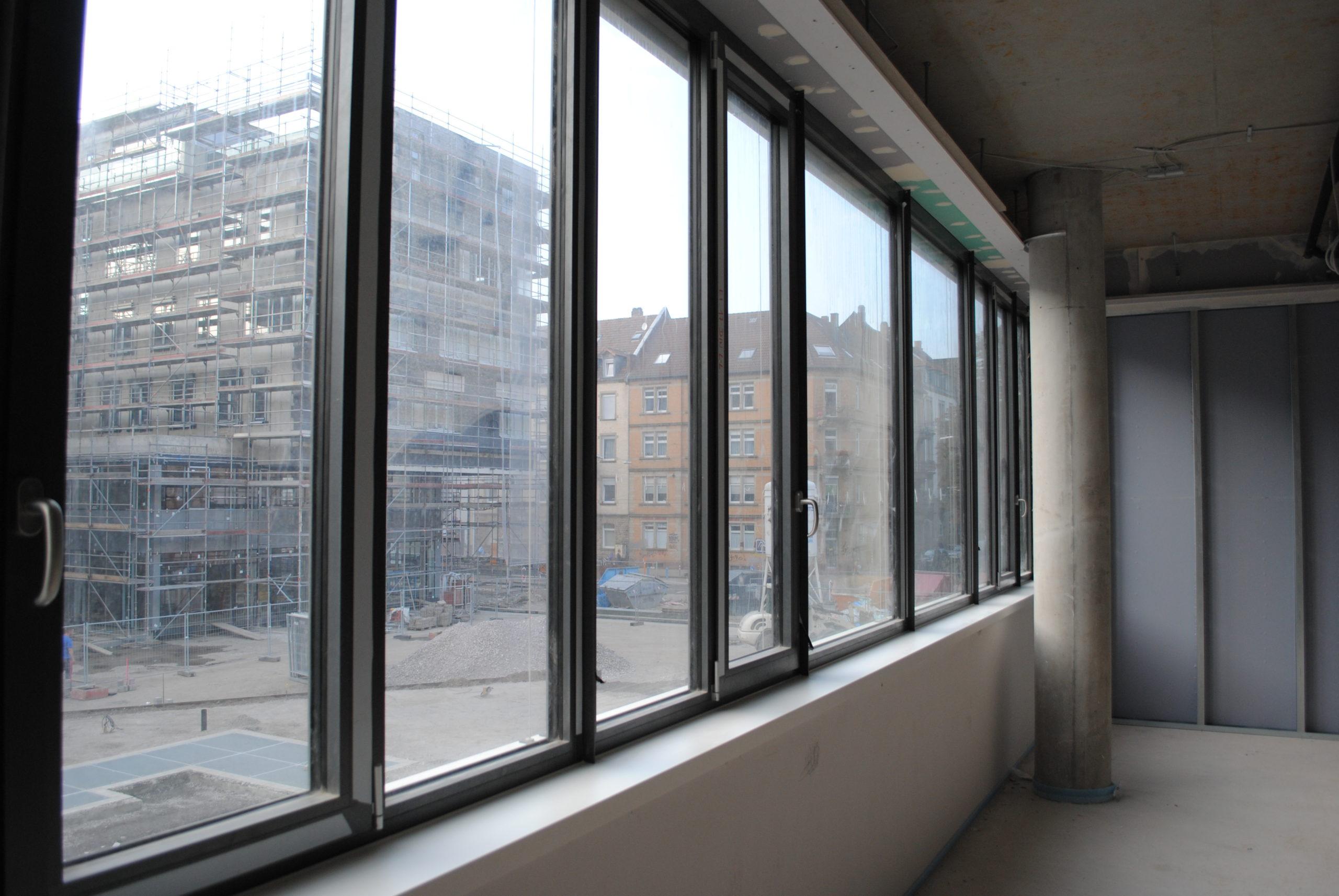 Das Synus-Gebäude im Bau - Ausblick