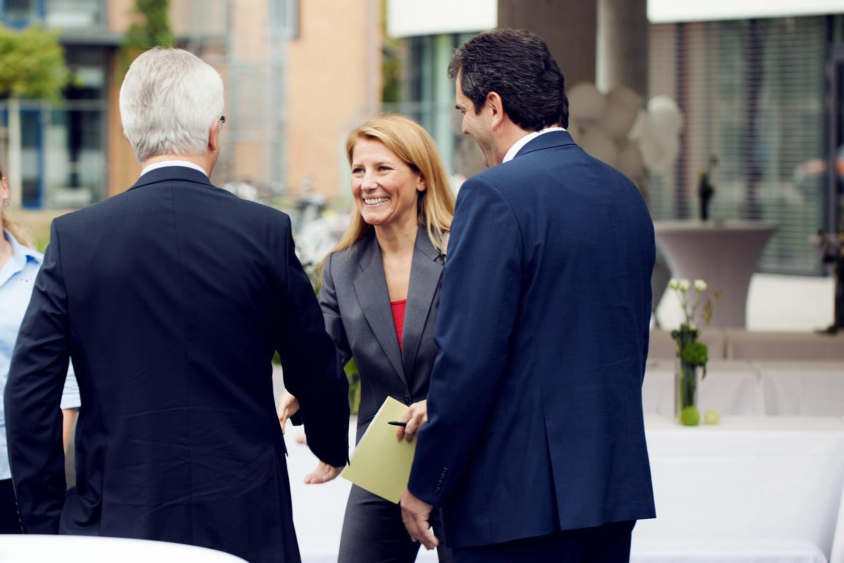 Feierliche Eröffnung Moderatorin Patricia Küll