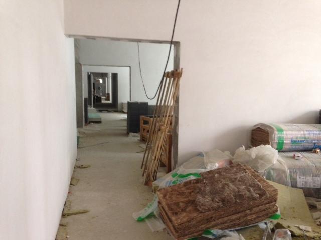 Das Synus-Gebäude im Bau - Lounge