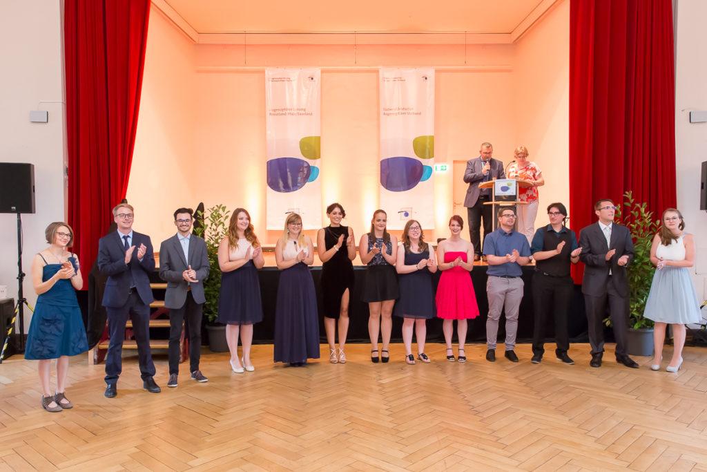 Freisprechungsfeier 2017 Mainz Applaus für die Klasse B der Berufsschule Bad Dürkheim