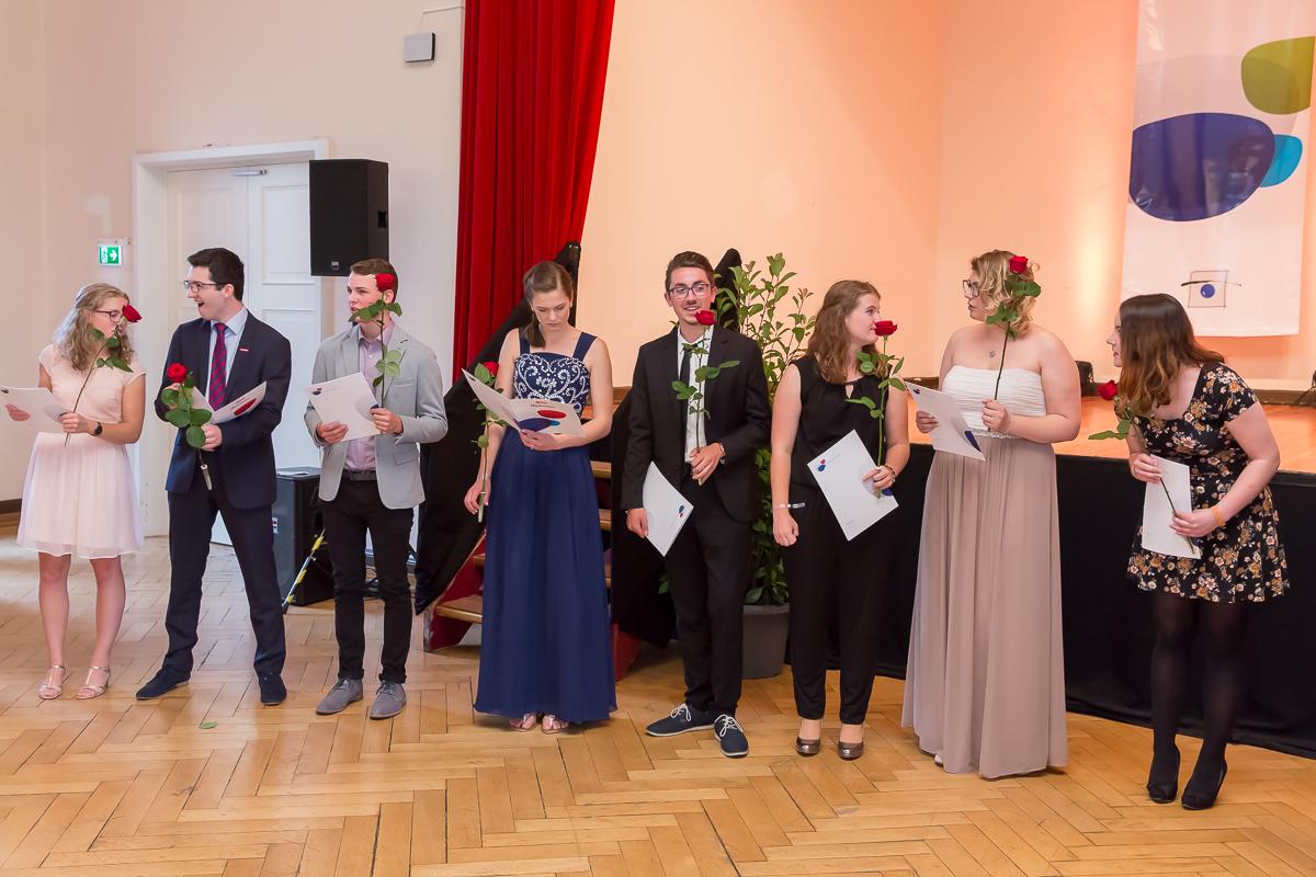 Freisprechungsfeier 2017 Mainz Freudestrahlend
