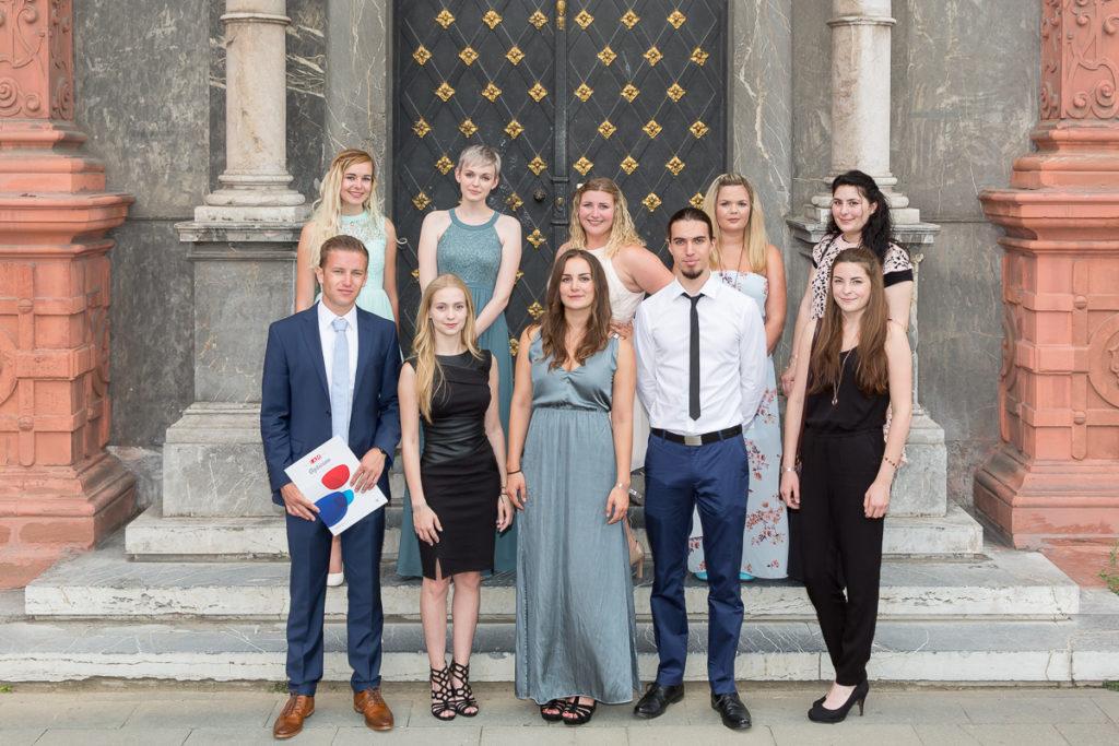 Freisprechungsfeier 2017 Mainz Klassenfoto Koblenz Klasse A