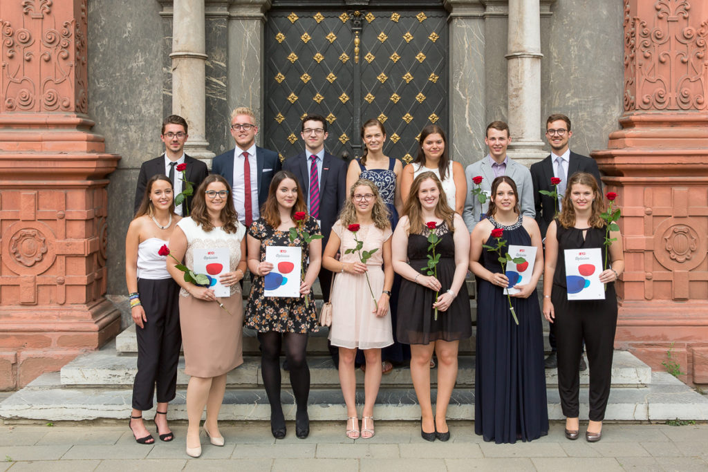 Freisprechungsfeier 2017 Mainz Klassenfoto Koblenz Klasse B