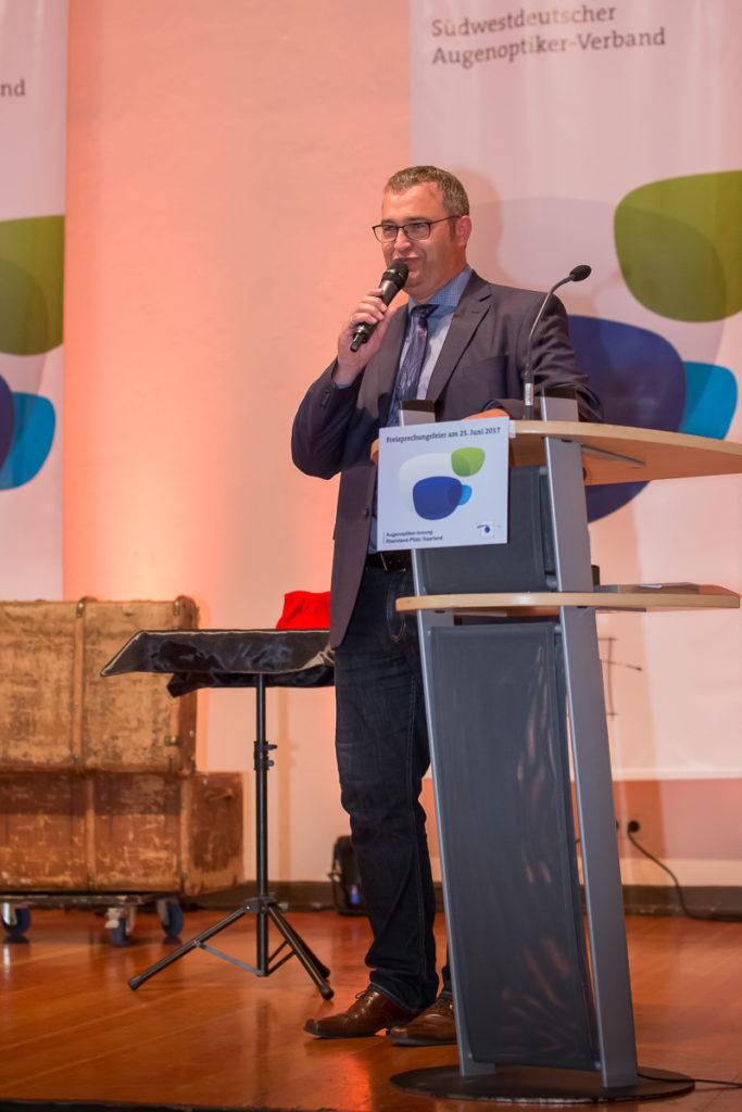 Freisprechungsfeier 2017 Mainz Patrik Sommer moderiert