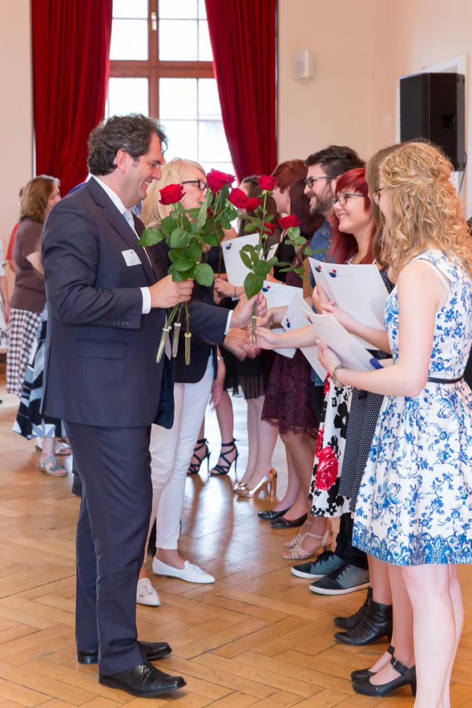 Freisprechungsfeier 2017 Mainz Rosenübergabe Berufsschule Trier