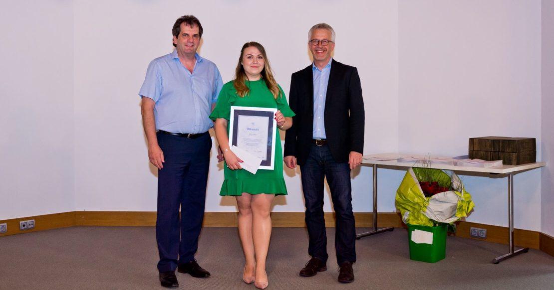 Freisprechungsfeier-2019-Berufsschule-Freiburg-Die-praktisch-Beste-Nina-Zaika (Bild: Markus Herb)