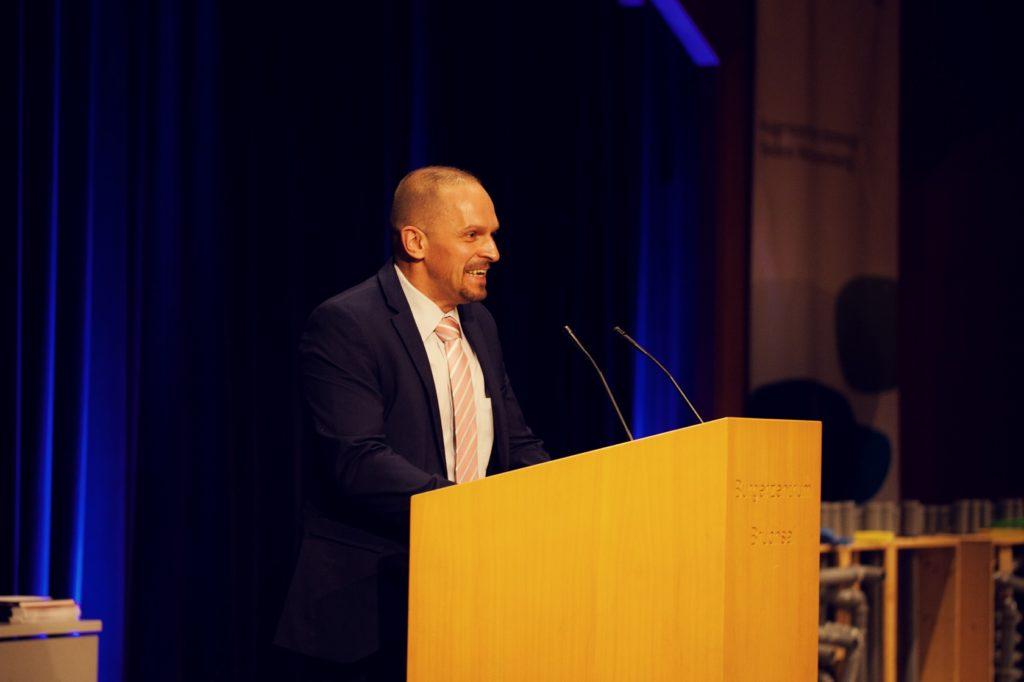 Freisprechungsfeier Bruchsal 2017 Begrüßung Dr. Patrick Jakob