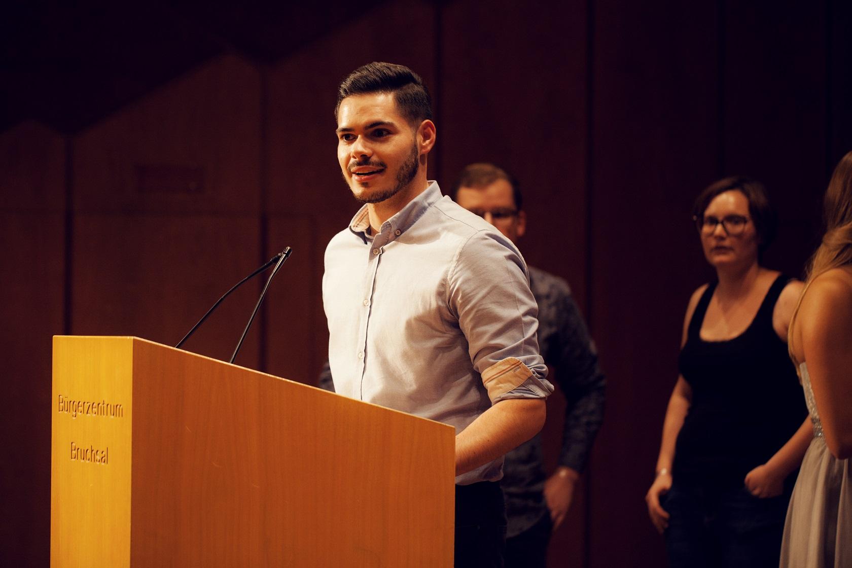 Freisprechungsfeier Bruchsal 2017 Junggesellen verabschieden Lehrer
