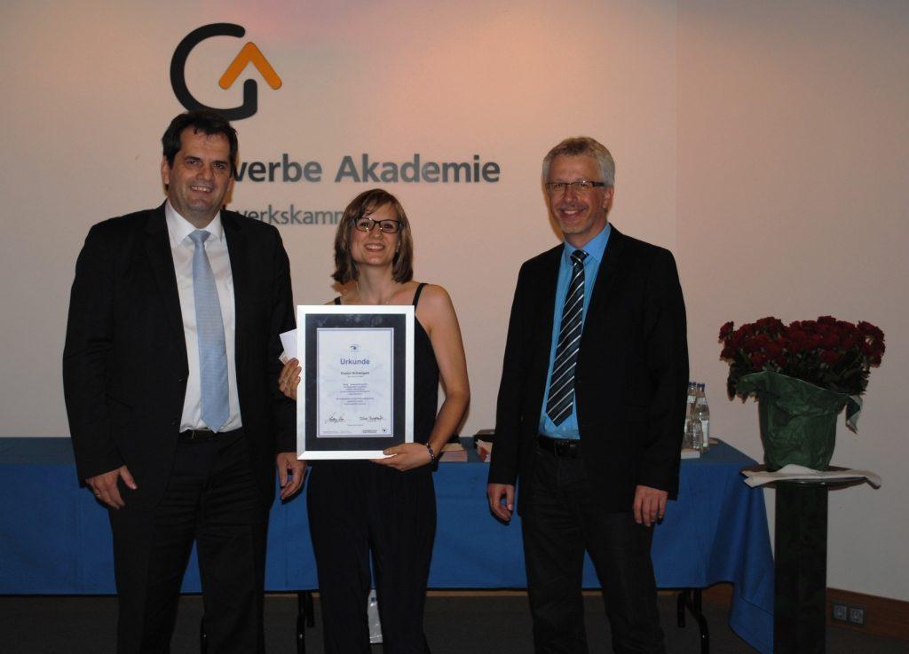 Freisprechungsfeier Freiburg 2015 Auszeichnung
