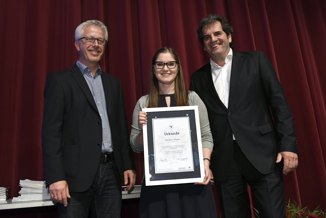 Freisprechungsfeier Leonberg 2017 Auszeichnung Beste Prüfung