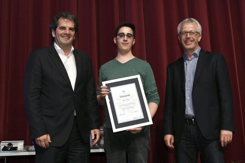 Freisprechungsfeier Leonberg 2017 Auszeichnung Zweibester Prüfung