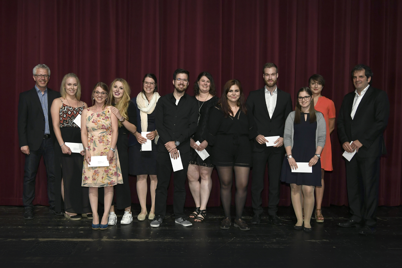 Freisprechungsfeier Leonberg 2017 Beste Prüfungsgruppe