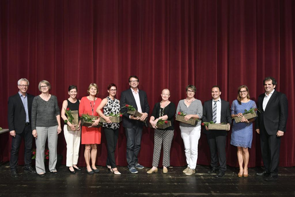 Freisprechungsfeier Leonberg 2017 Vertreter der Berufsschule