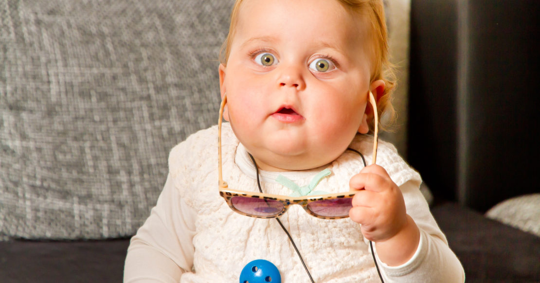 Kinderbrillen in jungen Jahren