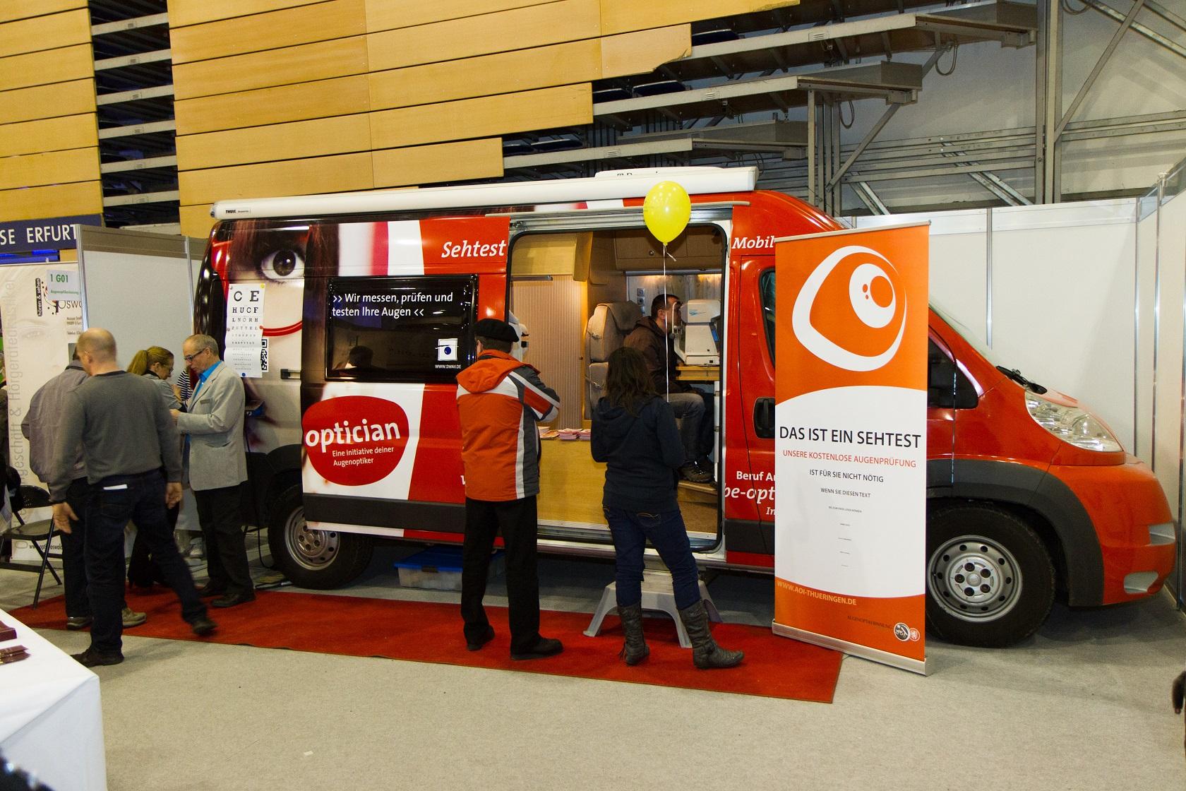 SWAV Sehtest-Mobil 2013 Gesundheitsmesse in Thüringen