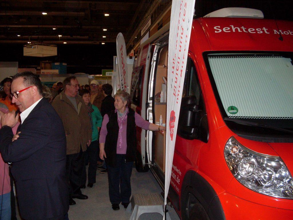 SWAV Sehtest-Mobil 2014 Gesundheitsmesse in Thüringen
