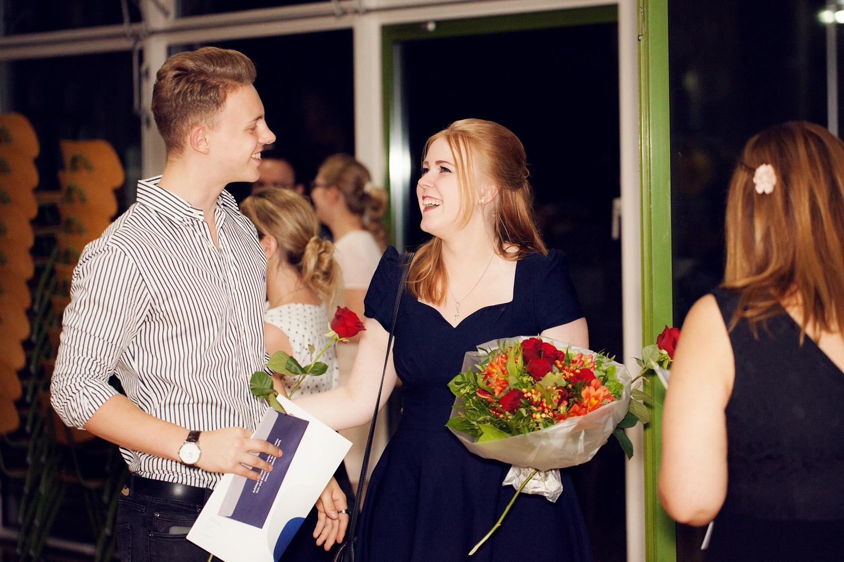 Schulabschlussfeier Bruchsal 2016 Blumenstrauss