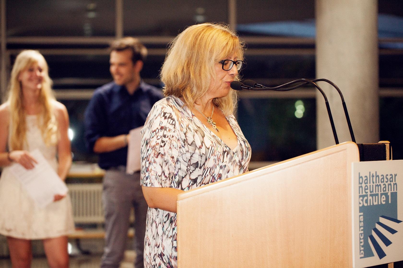 Schulabschlussfeier Bruchsal 2016 Rede Ingrid Lehr-Binder