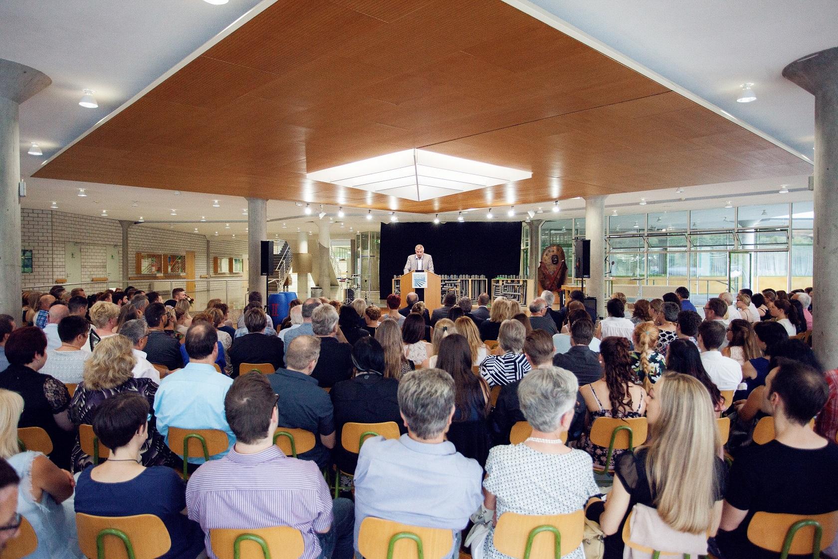 Schulabschlussfeier Bruchsal 2016 Bühne